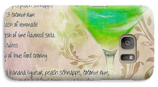 Green Angel Mixed Cocktail Recipe Sign Galaxy S7 Case by Mindy Sommers