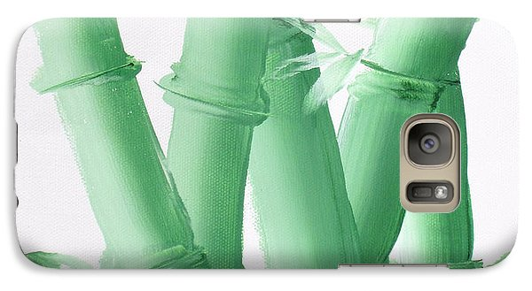 Galaxy Case featuring the painting Green  Bamboo by Kathy Sheeran