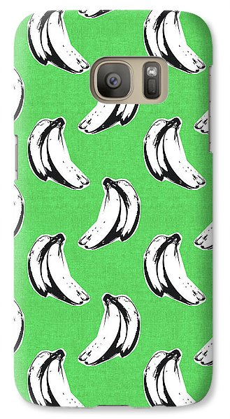 Green Bananas- Art By Linda Woods Galaxy S7 Case by Linda Woods