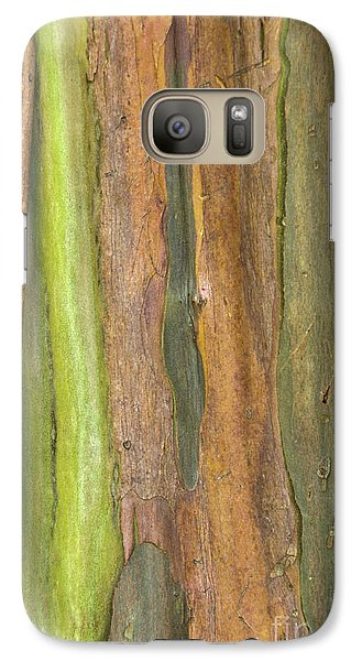 Galaxy Case featuring the photograph Green Bark 3 by Werner Padarin