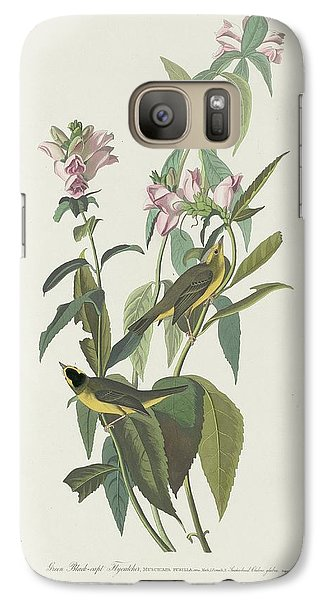 Flycatcher Galaxy S7 Case - Green Black-capt Flycatcher by Dreyer Wildlife Print Collections