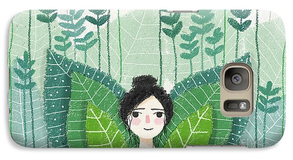 Green Galaxy Case by Carolina Parada
