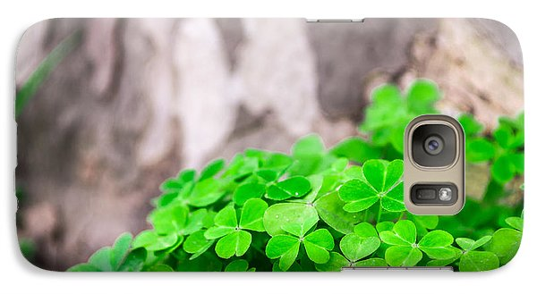Galaxy Case featuring the photograph Green Clover And Grey Tree by John Williams