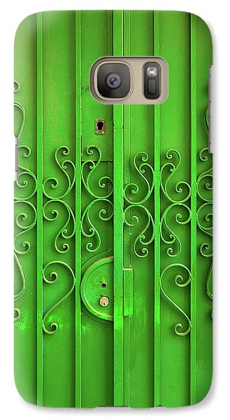 Galaxy Case featuring the photograph Green Door by Carlos Caetano
