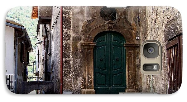 Galaxy Case featuring the photograph Green Door by Judy Kirouac