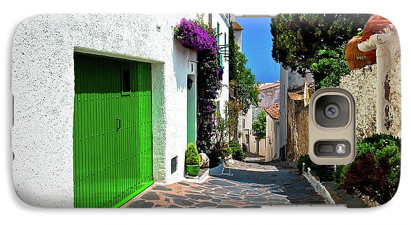 Galaxy Case featuring the photograph Green Door Passage  by Harry Spitz