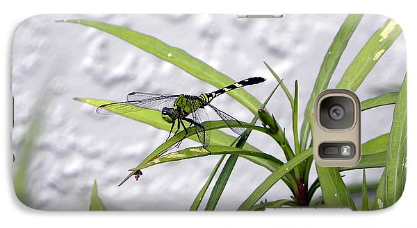 Galaxy Case featuring the photograph Green Dragonfly by Terri Mills