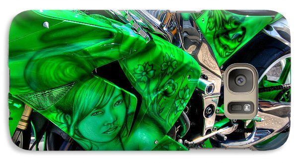 Galaxy Case featuring the photograph Green Dream by Adrian LaRoque