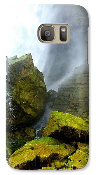 Galaxy Case featuring the photograph Green Falls by Raymond Earley