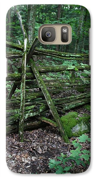 Galaxy Case featuring the photograph Green Fence by Pat Purdy