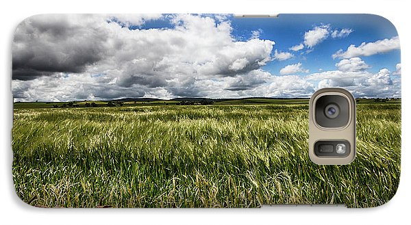 Galaxy Case featuring the photograph Green Fields by Douglas Barnard