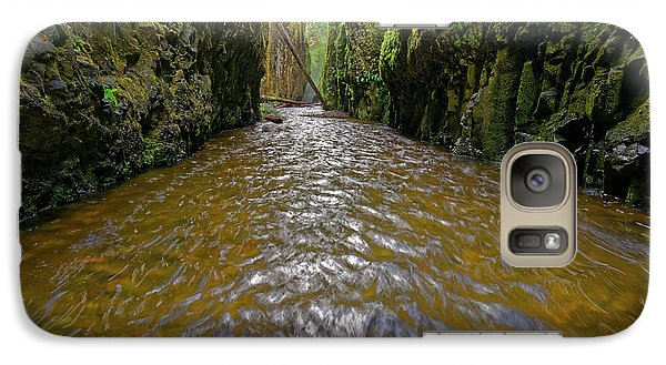 Galaxy Case featuring the photograph Green Flow by Jonathan Davison