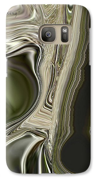 Galaxy Case featuring the digital art Green Friends by Roena King