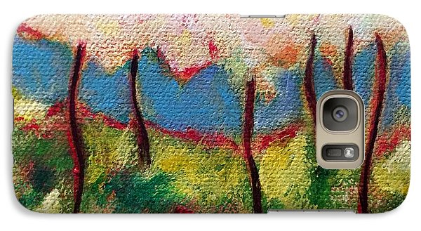 Galaxy Case featuring the painting Green Glade by Elizabeth Fontaine-Barr