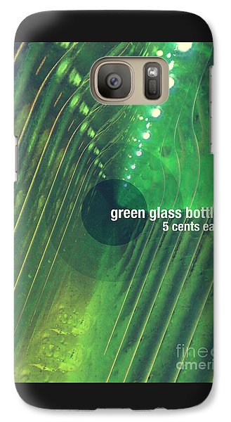 Galaxy Case featuring the photograph Green Glass Bottles by Phil Perkins