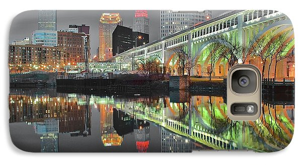 Galaxy Case featuring the photograph Green Glow by Frozen in Time Fine Art Photography