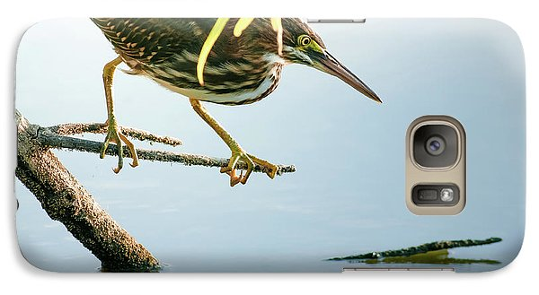 Galaxy Case featuring the photograph Green Heron Sees Minnow by Robert Frederick