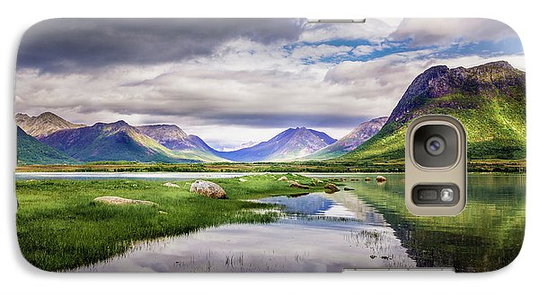 Galaxy Case featuring the photograph Green Hills Of Vesteralen by Dmytro Korol