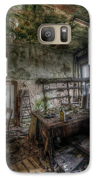 Galaxy Case featuring the digital art Green Lab by Nathan Wright