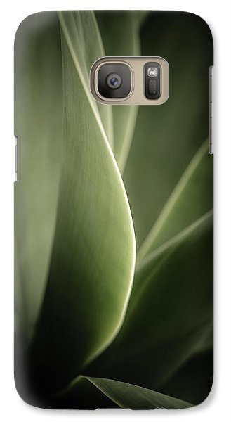 Galaxy Case featuring the photograph Green Leaves Abstract by Marco Oliveira