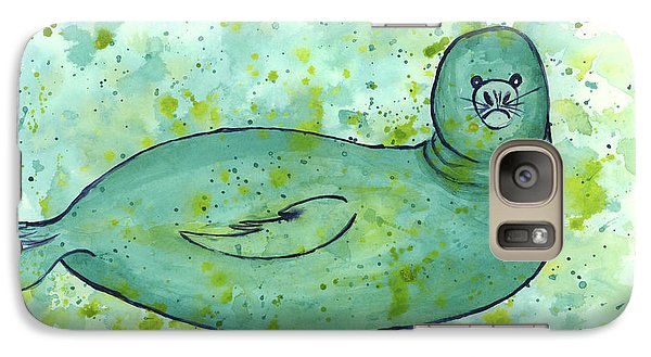 Galaxy Case featuring the painting Green Monk Seal by Darice Machel McGuire