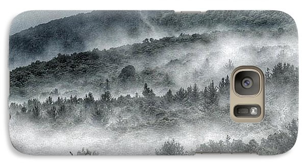 Galaxy Case featuring the photograph Green Mountains With Fog by Penni D'Aulerio