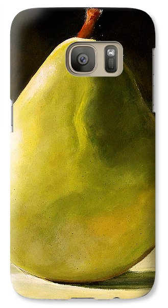 Orange Galaxy S7 Case - Green Pear by Toni Grote