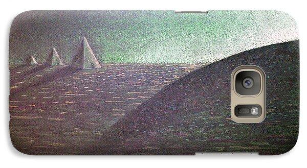 Galaxy Case featuring the drawing Green Pyramid B by Mayhem Mediums