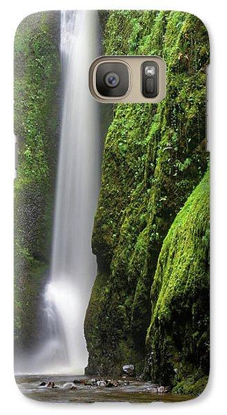 Galaxy Case featuring the photograph Green Slot Canyon by Jonathan Davison
