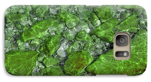Galaxy Case featuring the photograph Green Stone Waters by LeeAnn McLaneGoetz McLaneGoetzStudioLLCcom