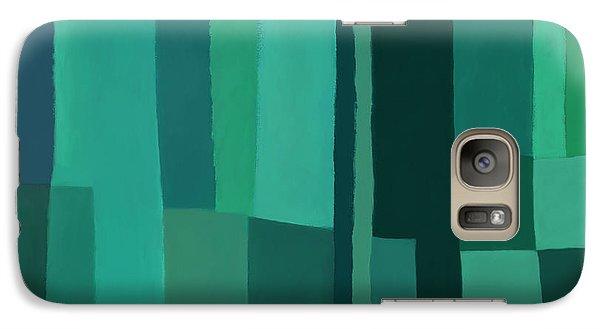 Galaxy Case featuring the digital art Green Stripes 1 by Elena Nosyreva