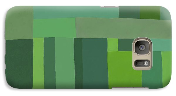 Galaxy Case featuring the digital art Green Stripes 2 by Elena Nosyreva