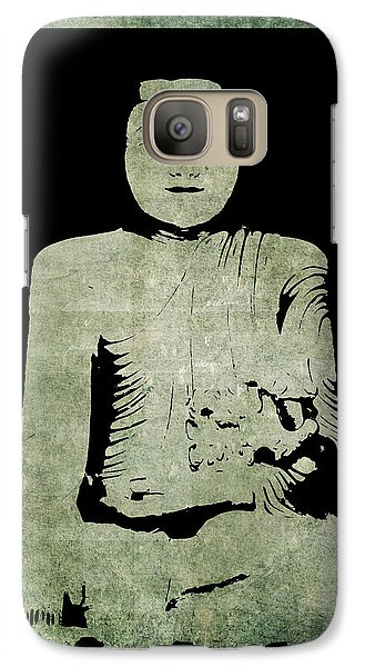 Galaxy Case featuring the painting Green Tranquil Buddha by Kandy Hurley