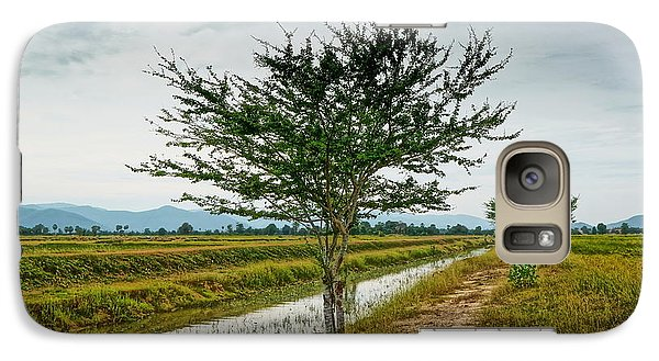 Galaxy Case featuring the photograph Green Tree by Arik S Mintorogo
