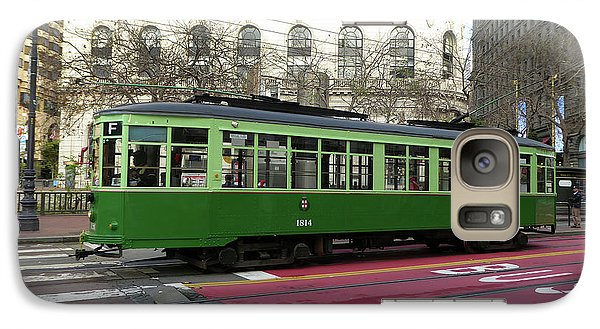 Galaxy Case featuring the photograph Green Trolley by Steven Spak