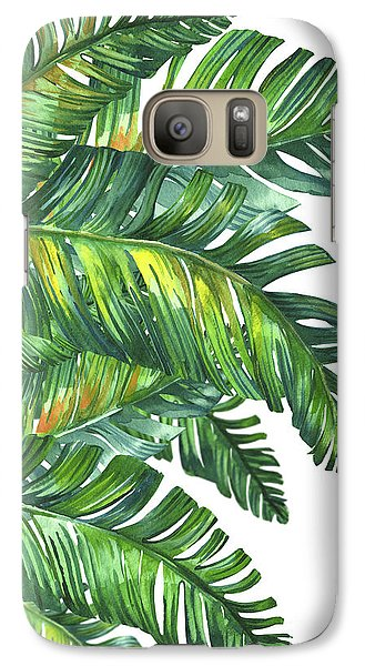 Flowers Galaxy S7 Case - Green Tropic  by Mark Ashkenazi