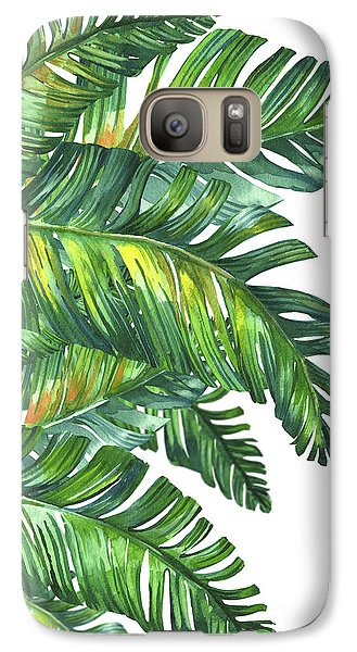 Green Tropic  Galaxy S7 Case by Mark Ashkenazi