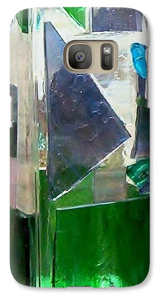 Galaxy Case featuring the glass art Green Vase by Jamie Frier