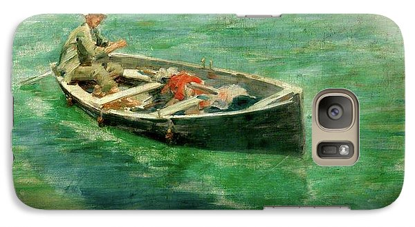 Galaxy Case featuring the painting Green Waters by Henry Scott Tuke