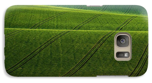 Galaxy Case featuring the photograph Green Waves Of Rolling Hills by Jenny Rainbow
