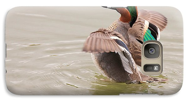 Galaxy Case featuring the photograph Green-winged Teal by Ram Vasudev