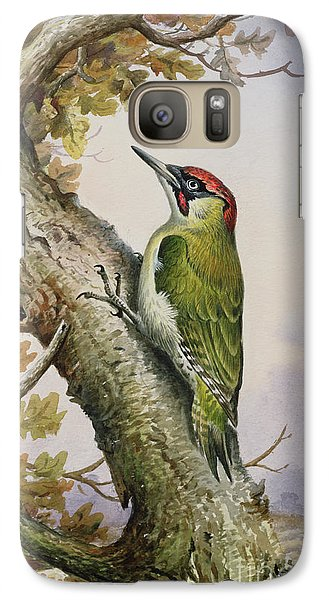 Green Woodpecker Galaxy S7 Case by Carl Donner