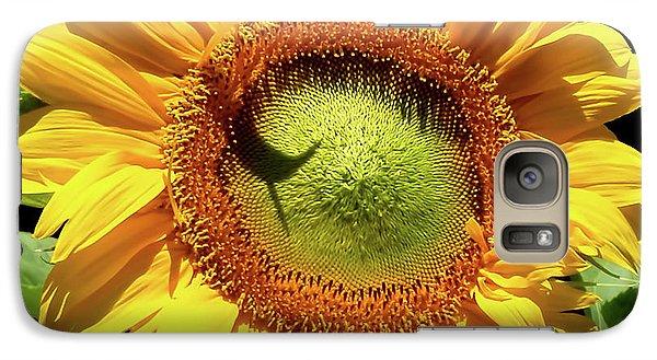 Sunflower Galaxy S7 Case - Greenburst Sunflower by Rona Black