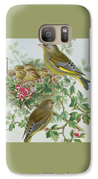 Greenfinch Galaxy Case by John Gould