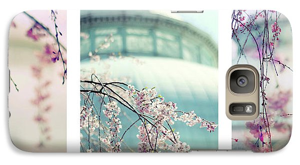 Galaxy Case featuring the photograph Greenhouse Blossoms Triptych by Jessica Jenney