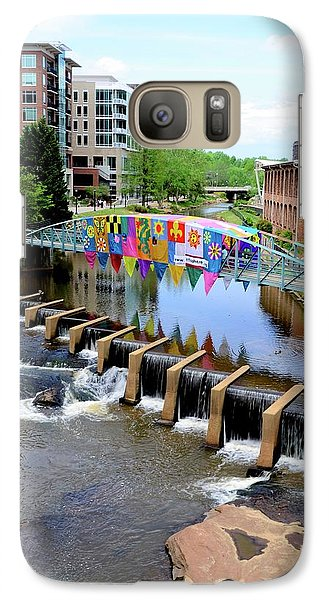 Galaxy Case featuring the photograph Greenville River Walk by Corinne Rhode