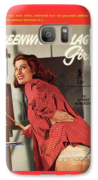 Galaxy Case featuring the painting Greenwich Village Girl by Photo Cover