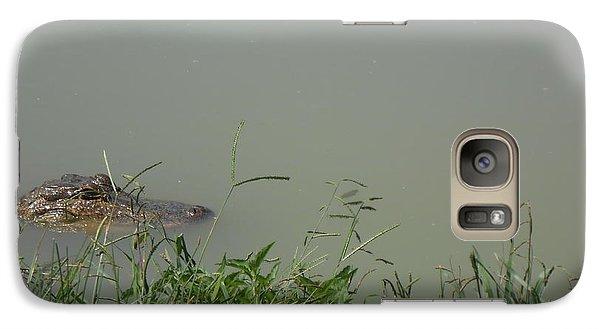 Galaxy Case featuring the photograph Greenwood Gator Farm by Cynthia Powell