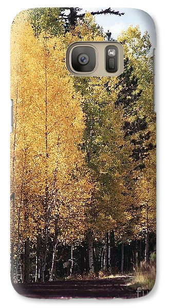 Galaxy Case featuring the photograph Greer Arizona Aspen Trees by Juls Adams