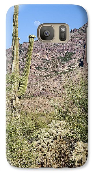 Galaxy Case featuring the photograph Greeting The Night by Phyllis Denton
